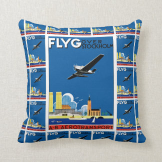 Flyg Over Stockholm Throw Pillow