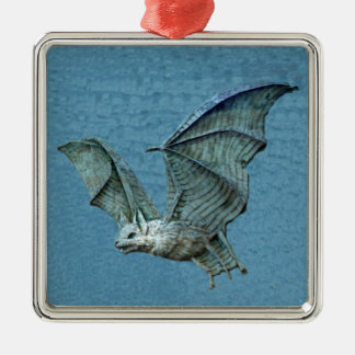 Flying 3D Blue Bat Christmas Ornament