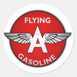 Flying A Gasoline crystal version Round Sticker