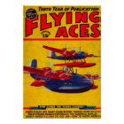 Flying Aces Magazine Cover 2 Poster
