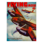 Flying Aces Magazine Cover 5 Print