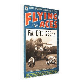 Flying Aces Poster- Jim Bruton & Fokker DR1 239/17 Stretched Canvas Print