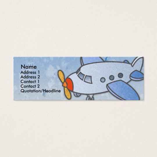 Flying Aeroplane Skinny Profile Cards