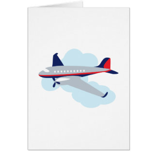 Flying Airplane Greeting Card