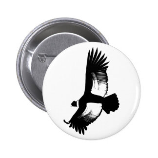Flying Andean Condor 6 Cm Round Badge