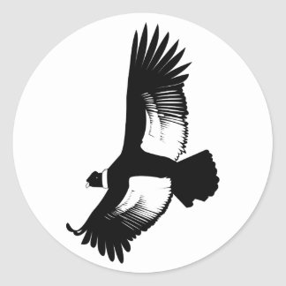 Flying Andean Condor Round Sticker