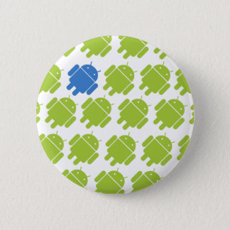 Flying Android Blue 6 Cm Round Badge
