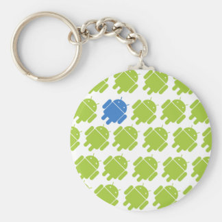 Flying Android Blue Key Ring