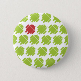 Flying Android Red 6 Cm Round Badge