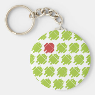 Flying Android Red Key Ring