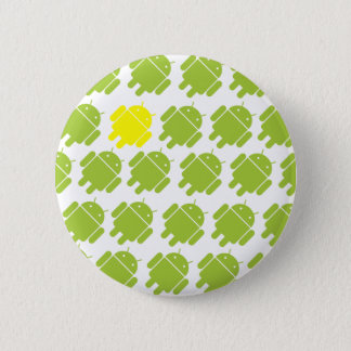 Flying Android Yellow 6 Cm Round Badge