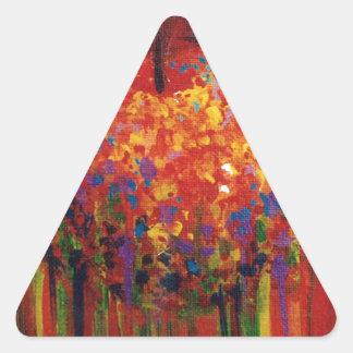 Flying apple triangle sticker