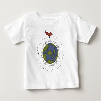 Flying Around the world Baby T-Shirt