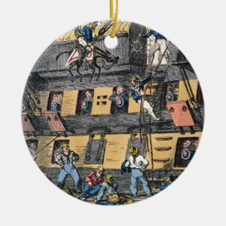 Flying Artillery or A Horse Marine (colour engravi Christmas Ornament