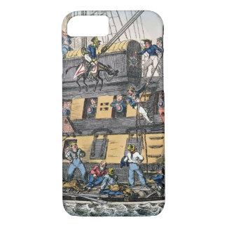Flying Artillery or A Horse Marine (colour engravi iPhone 8/7 Case