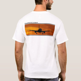 Flying at Sunset-Pilots in Flight T-Shirt