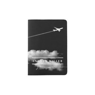 Flying Away/Jet Airplane/Personalized Pilot Passport Holder