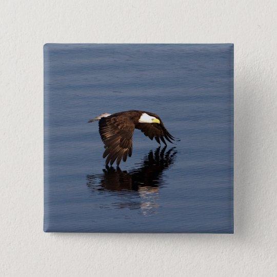 Flying Bald Eagle 15 Cm Square Badge