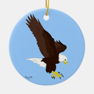 Flying Bald Eagle Christmas Ornament