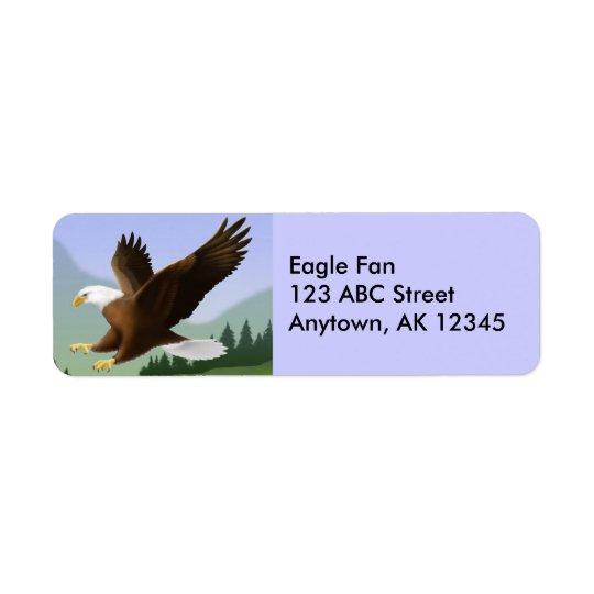 Flying Bald Eagle Label