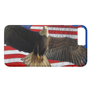 Flying Bald Eagle & US Flag Patriotic Phone Case