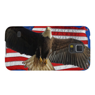 Flying Bald Eagle & US Flag Patriotic Samsung Case