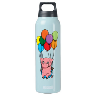 Flying Balloon Pig Insulated Water Bottle