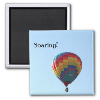 Flying Balloon Seagulls Square Magnet