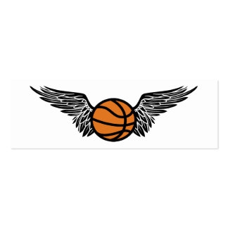 flying basketball ball business card template