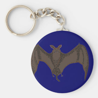 Flying Bat Basic Round Button Key Ring