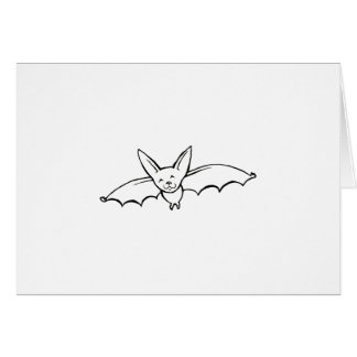 Flying Bat - fun original ink drawing sketch art Greeting Card