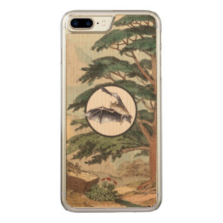 Flying Bat In Natural Habitat Illustration Carved iPhone 8 Plus/7 Plus Case