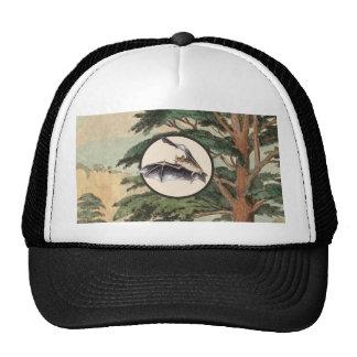 Flying Bat In Natural Habitat Illustration Hats