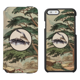 Flying Bat In Natural Habitat Illustration Incipio Watson™ iPhone 6 Wallet Case