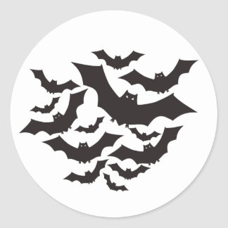 Flying bats classic round sticker