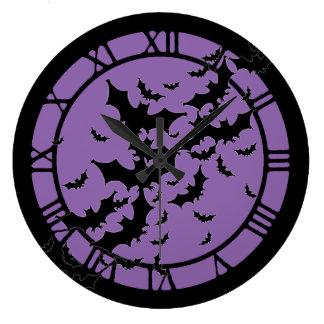 Flying Bats Round Wallclocks
