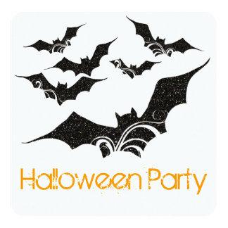 Flying Bats Halloween Party Invitation