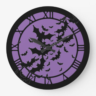 Flying Bats Large Clock