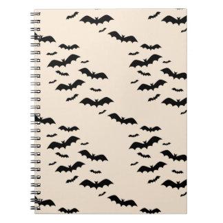 Flying Bats Spiral Notebook