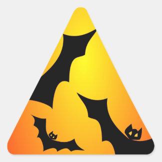 Flying Bats Triangle Sticker