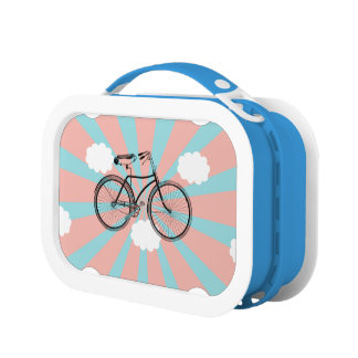 Flying Bicycle Pink Rey Lunch Box
