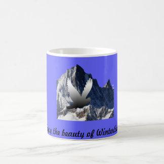 Flying Bird and Alps Mug