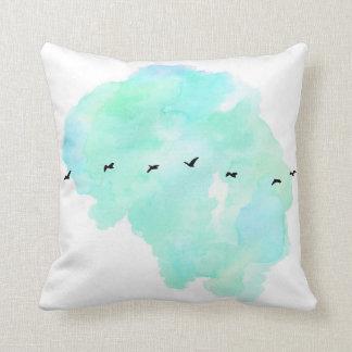 flying birds pillow