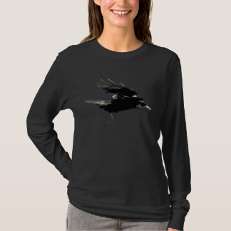 Flying Black CROW Art Fashion Shirt
