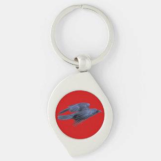 Flying Black Raven Gothic, Celtic, Wildlife Key Ring
