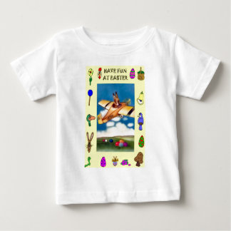Flying boy and Easter symbols Baby T-Shirt