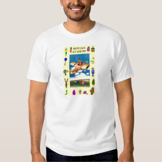 Flying boy and Easter symbols Shirts