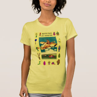 Flying boy and Easter symbols T Shirts