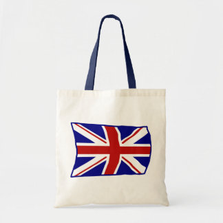 Flying British Union Jack Budget Tote Bag