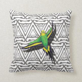 Flying Budgie Bird Cushion Pillow